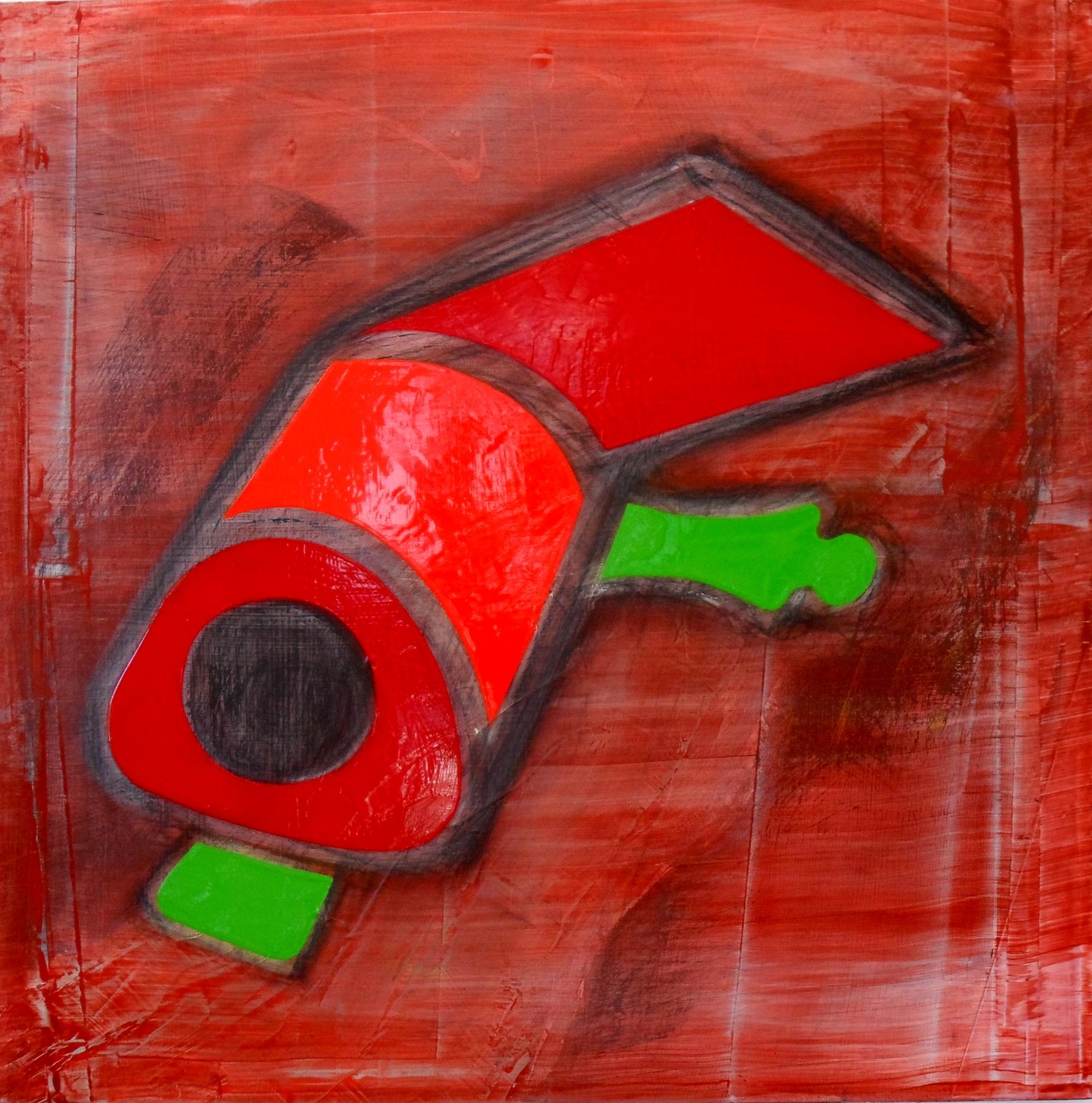 Objet d'Art 2, Acrylic and oil on board