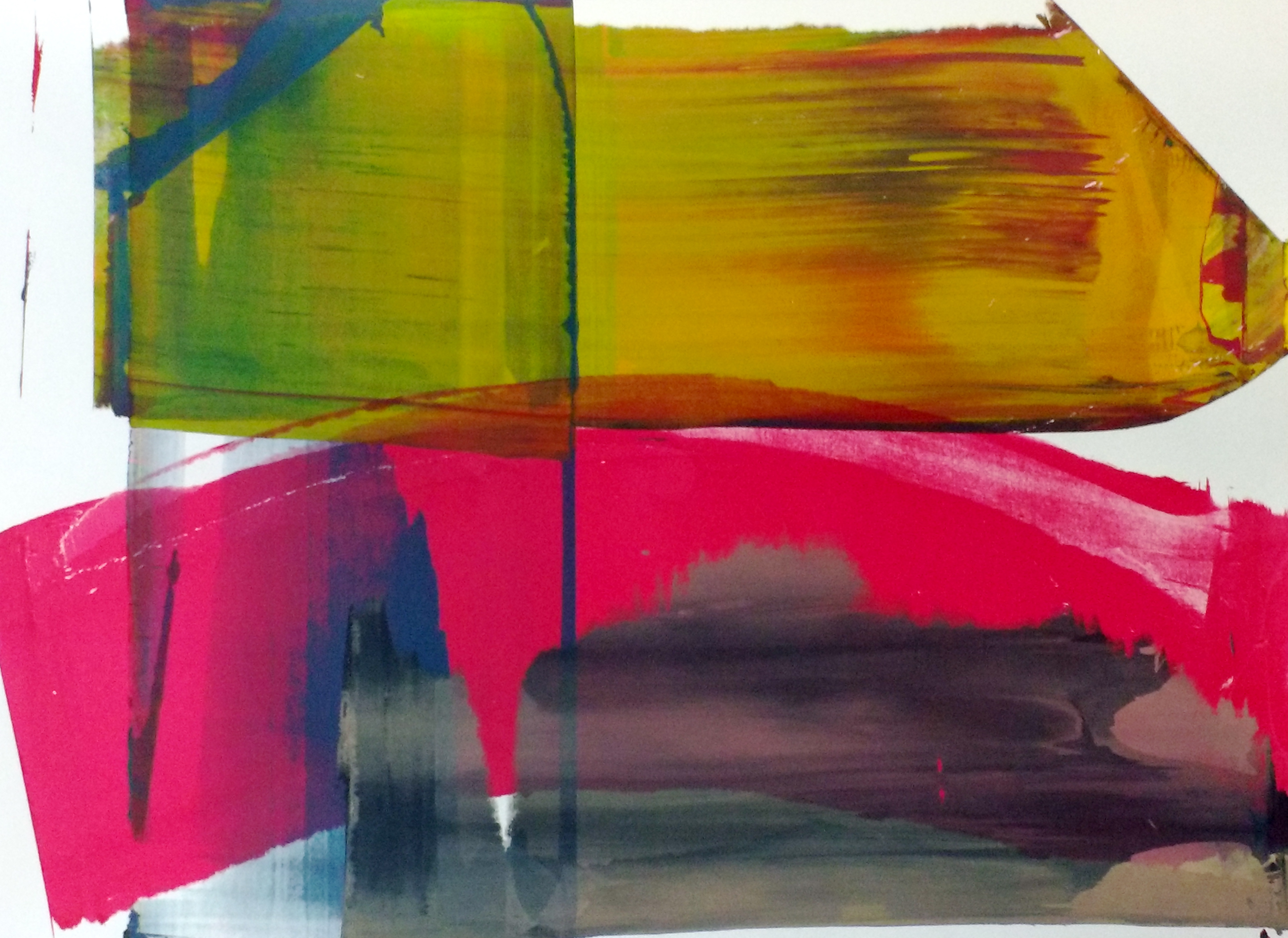 Squeegee & Roller 2, Printing ink on paper