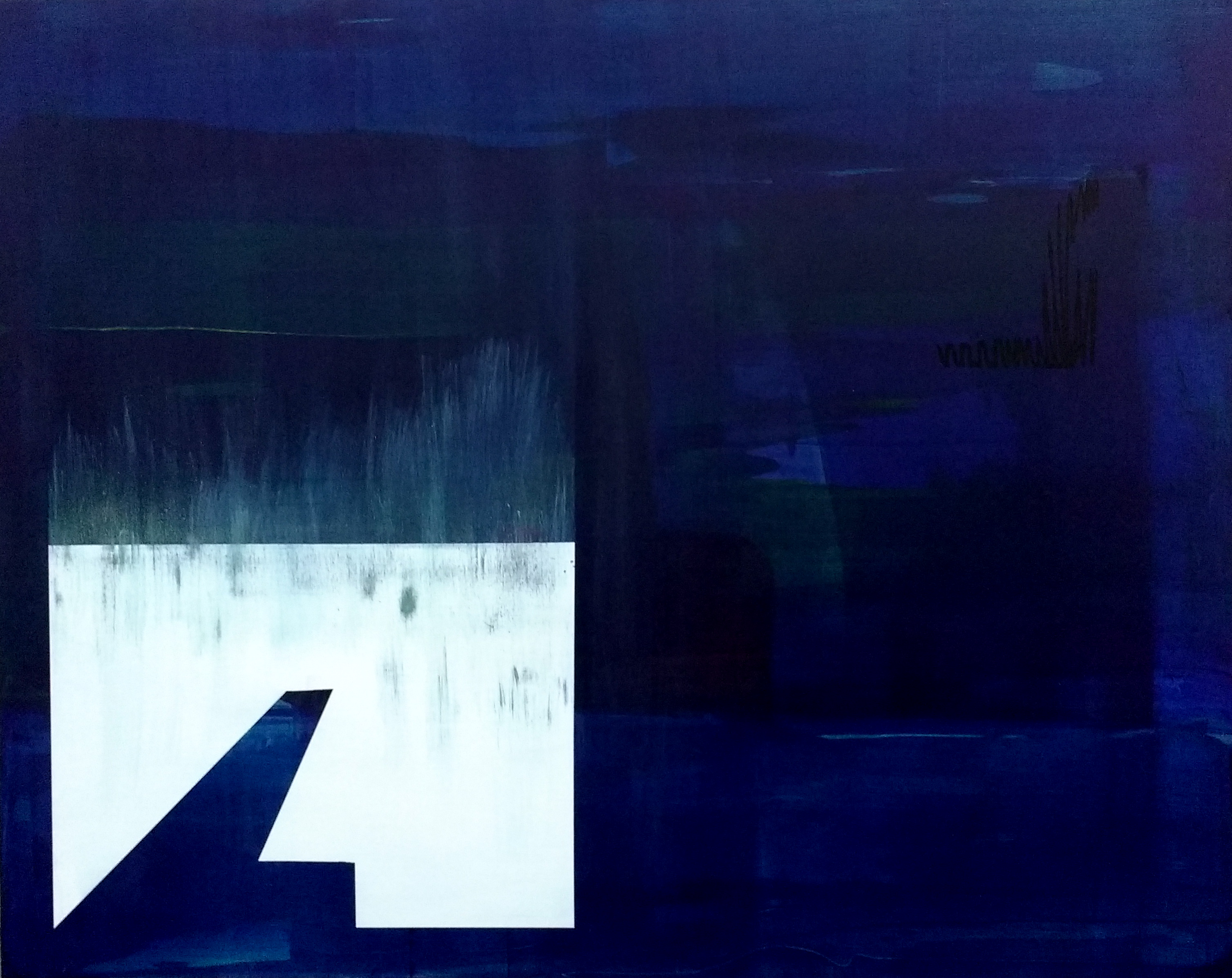 Slippage 8, Oil and acrylic on canvas