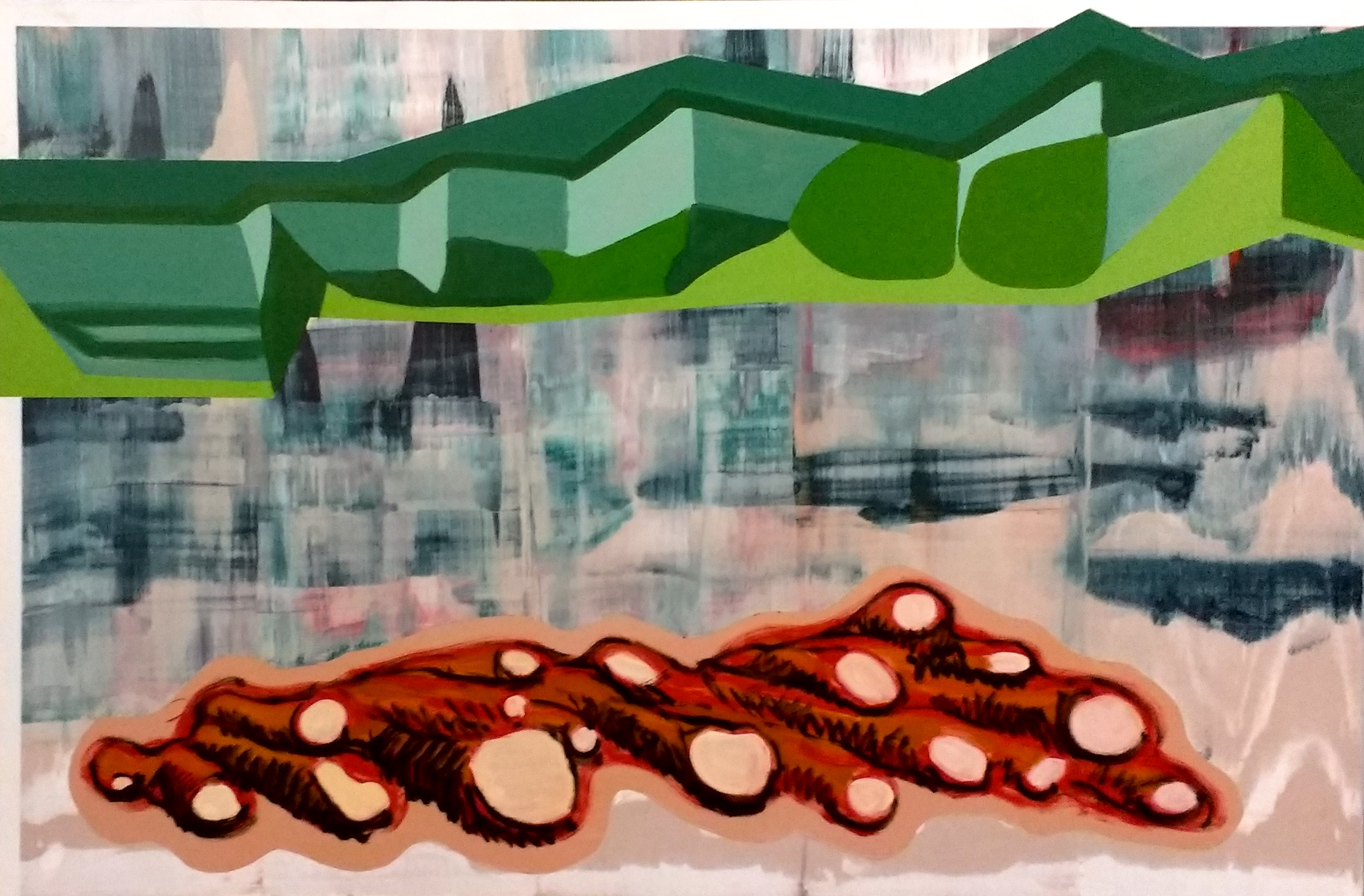 Slippage 7, Oil and acrylic on canvas