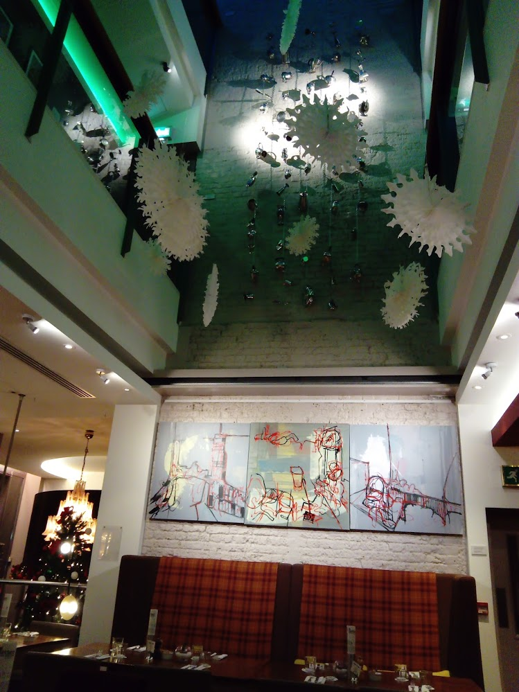 """Describer"" triptych, shown in the Zetter Hotel, Clerkenwell, London, 2018"