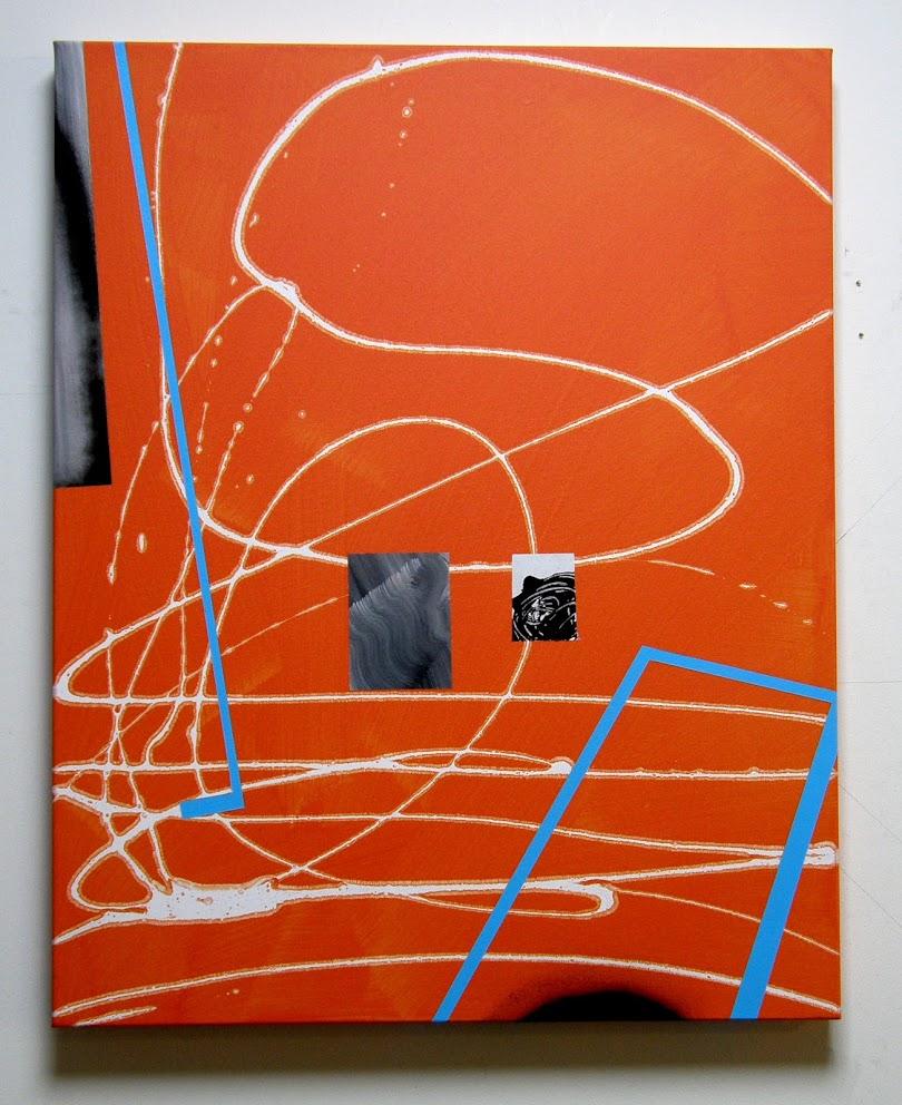 Orange 2: Nod to Las Meninas, Acrylic on canvas