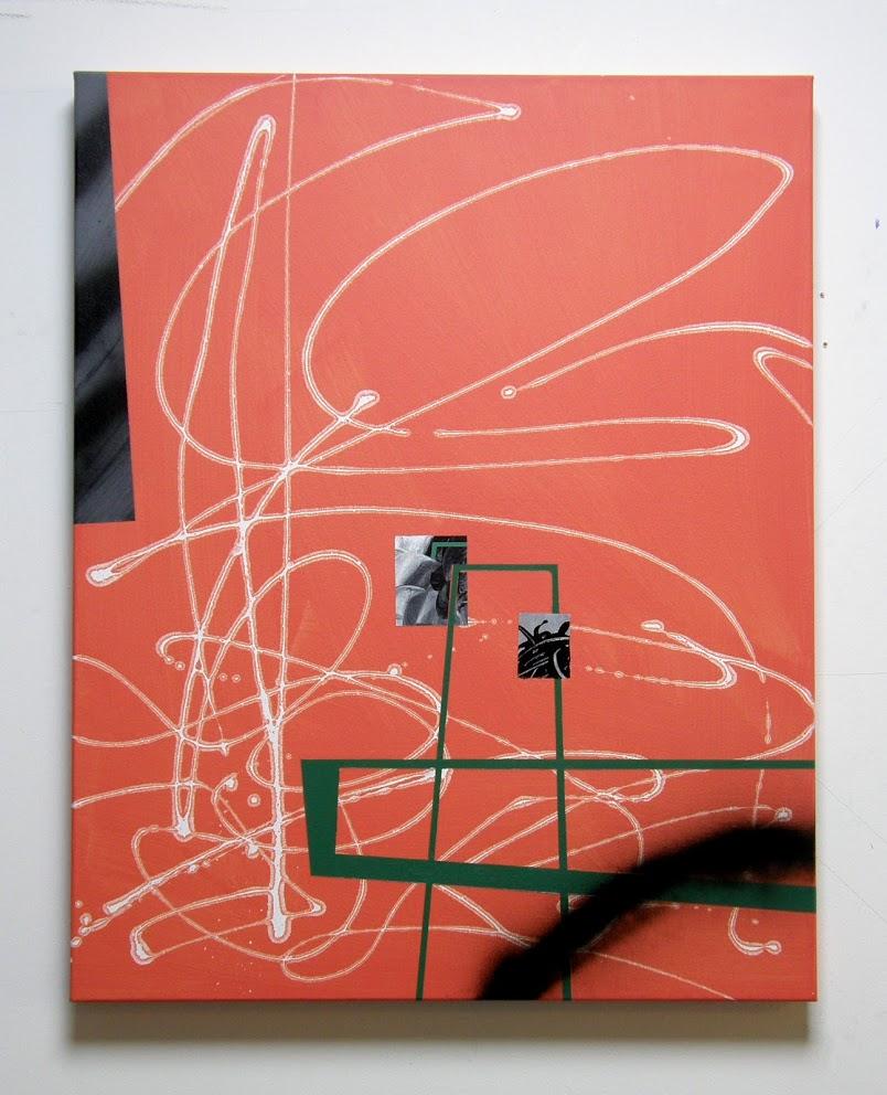 Orange 1: Nod to Las Meninas, Acrylic on canvas