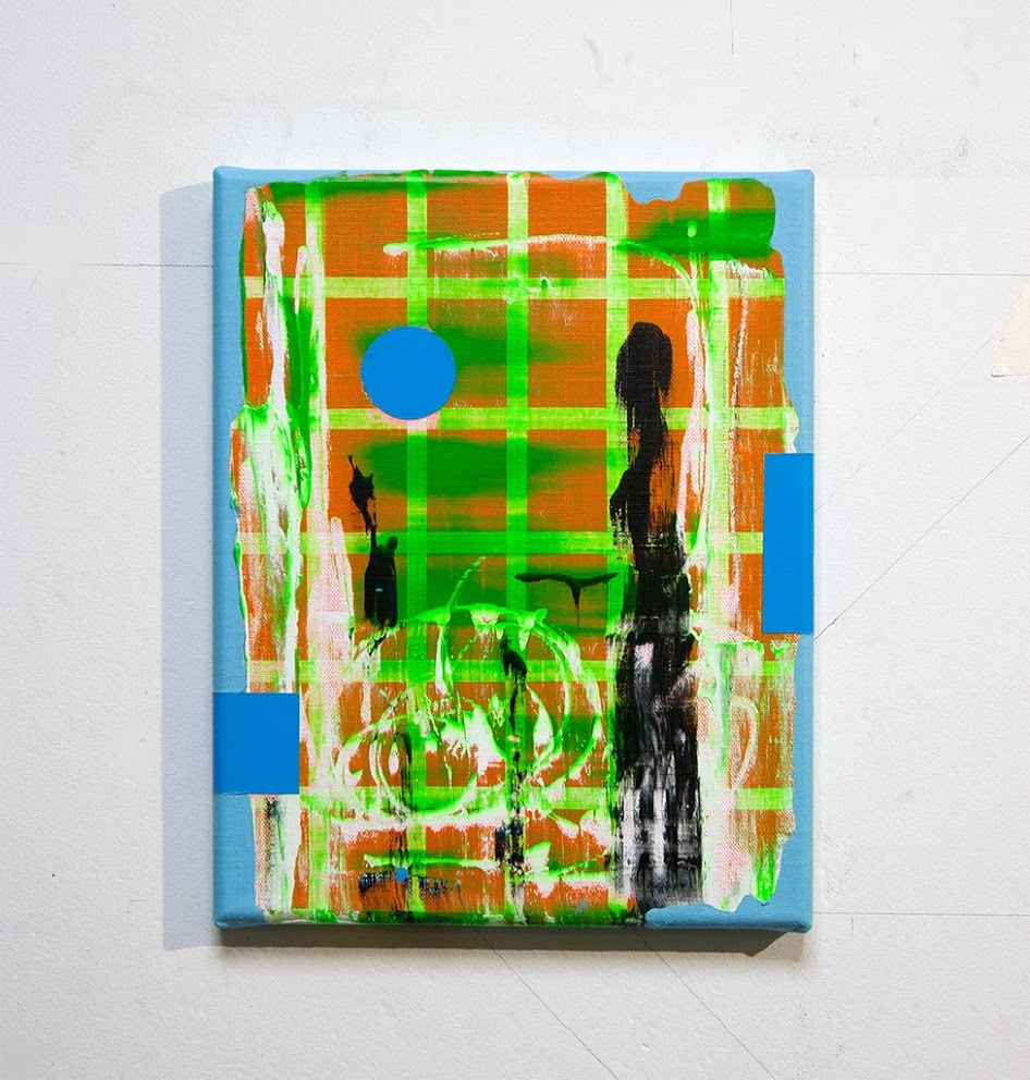 Blue Rider, acrylic on canvas, 30 x 24 x 2 cm