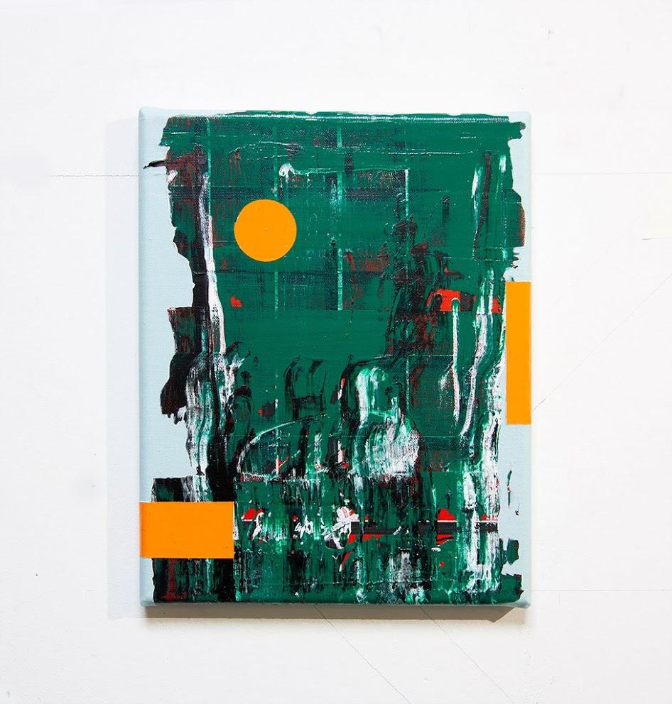 Orange Rider, acrylic on canvas 30 x 24 x 2 cm