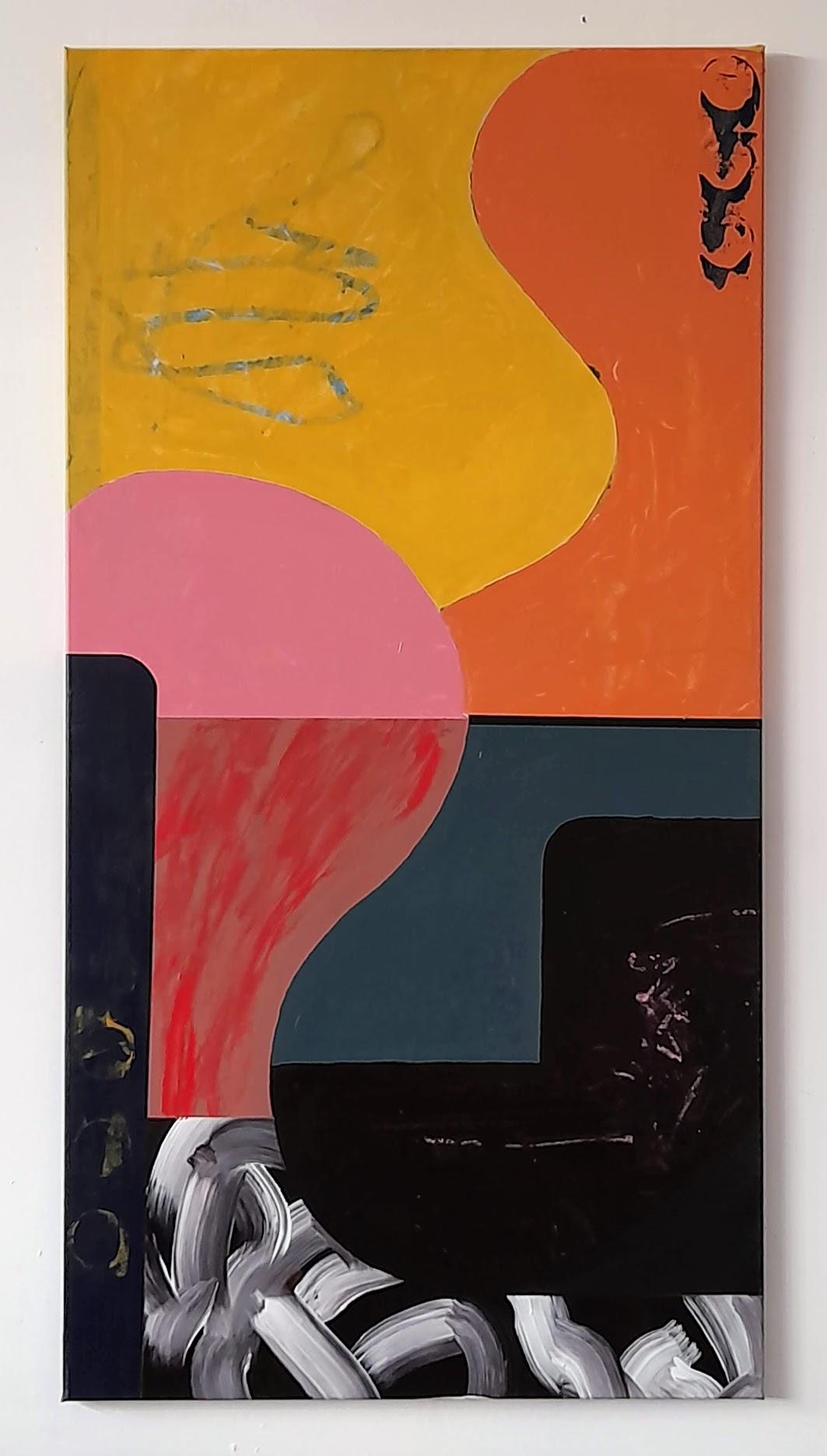 Curve #1 acrylic on canvas 135x70x2cm