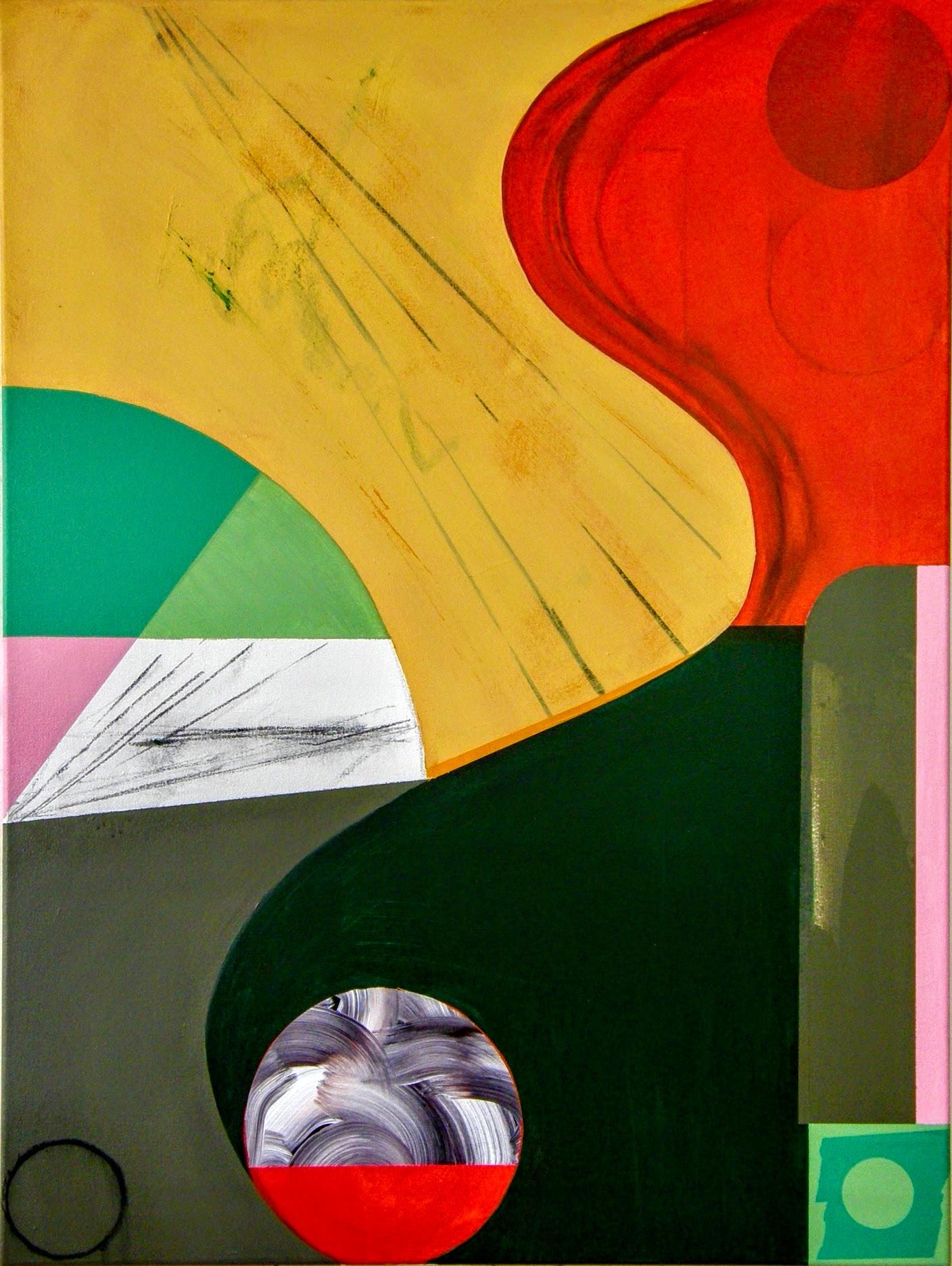 Curve #2 acrylic on canvas 100x75x4cm