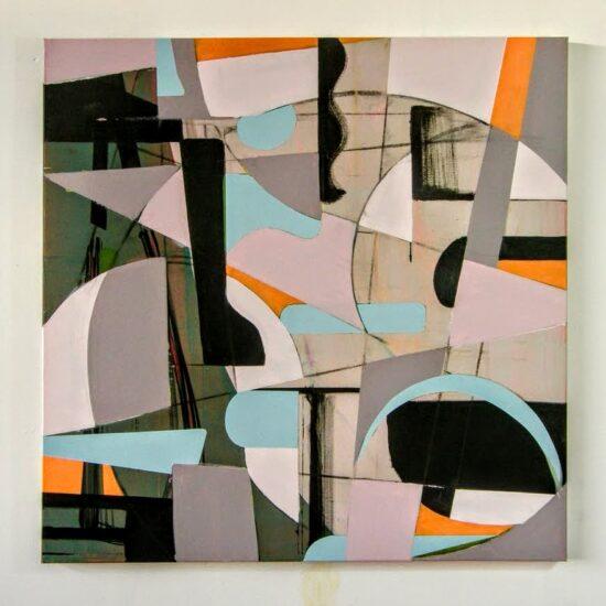 Circular #1 acrylic on canvas 100x100x4cm